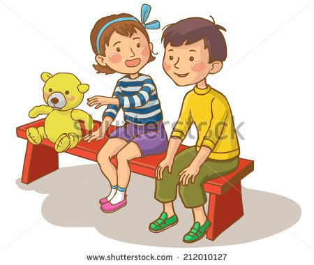 Boy And Girl Talking Clip Art