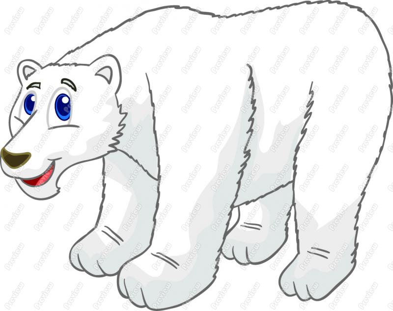 Cartoon Polar Bear 227 Formats Included With This Cartoon Clip