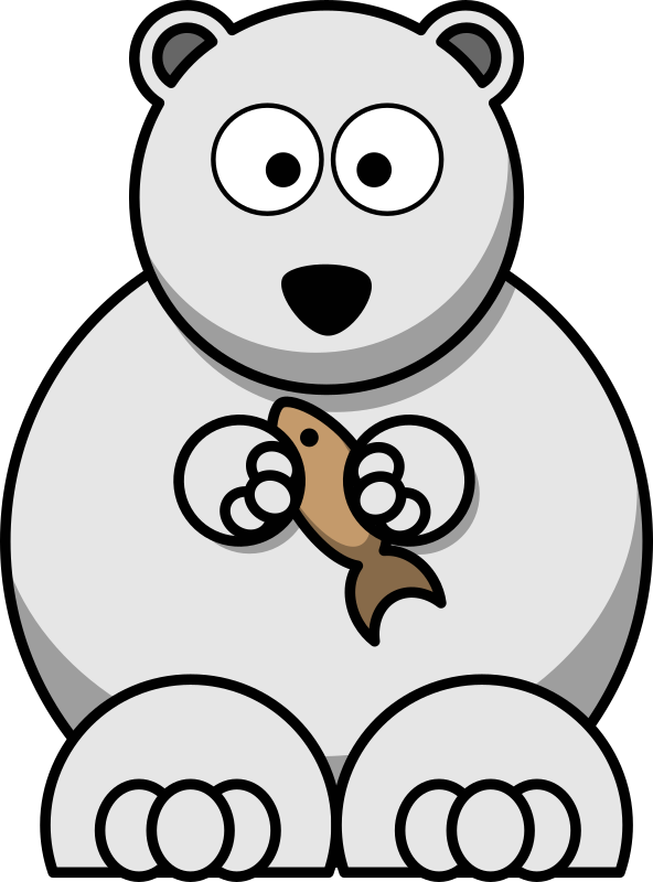 Cartoon Polar Bear By Studiofibonacci   Cartoon Polar Bear In The
