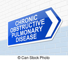 Chronic Obstructive Pulmonary Disease Concept  Stock Illustration