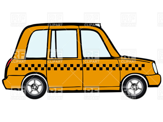 Clipart Catalog   Transportation   Taxi   Yellow Cab Download Royalty