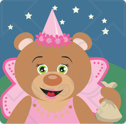Clipart Illustration Of A Teddy Bear Halloween Princess Character