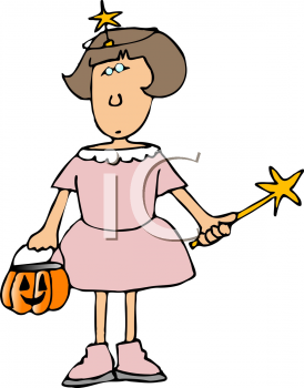 Fairy Princess Halloween Costume   Royalty Free Clipart Image