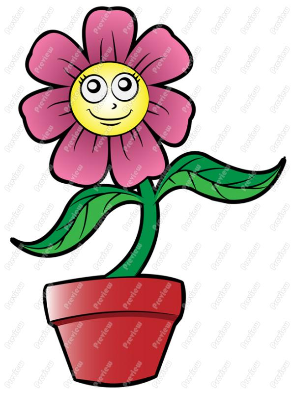 clipart flower in pot - photo #43