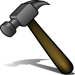 Clip Art Clip Art Hammer saw and hammer clipart kid etc tools hammer