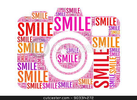 Photo Camera Smile Vector Stock Vector Clipart Photo Camera With