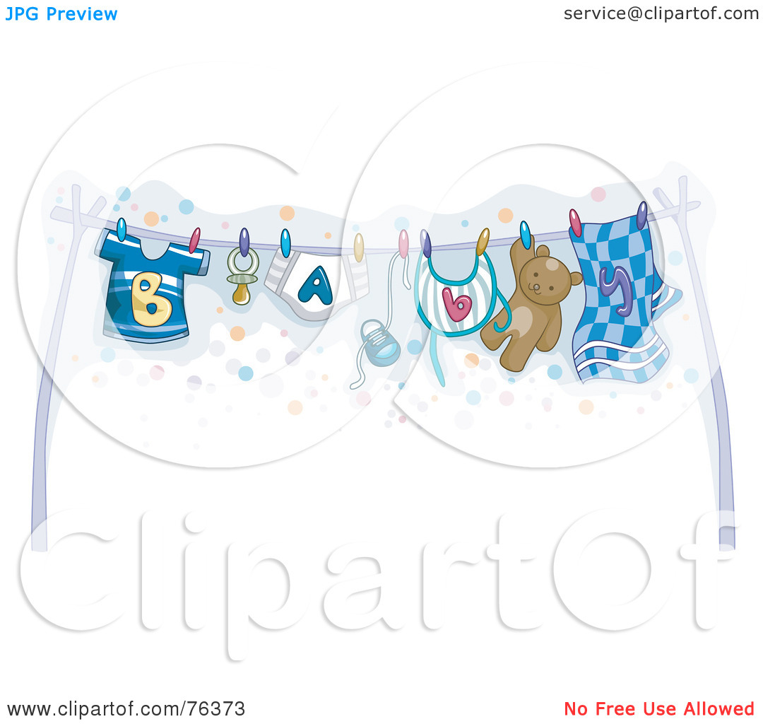 Baby Clothes Line Clipart - Clipart Kid