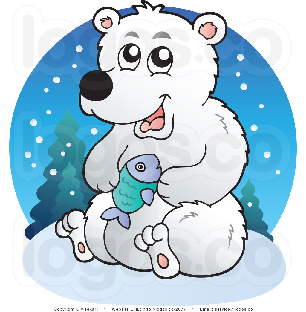 Polar Bear Clip Art Royalty Free Cartoon Polar Bear Logo By Visekart
