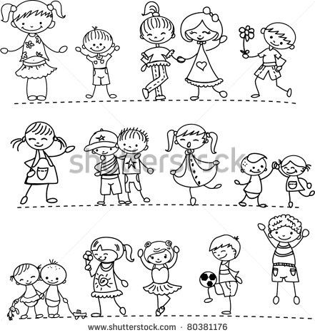 Preschool Black And White Clipart - Clipart Kid