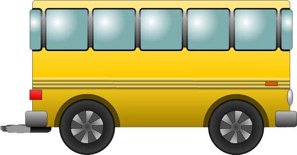 School Bus Cartoon Side View Bus Vector 3