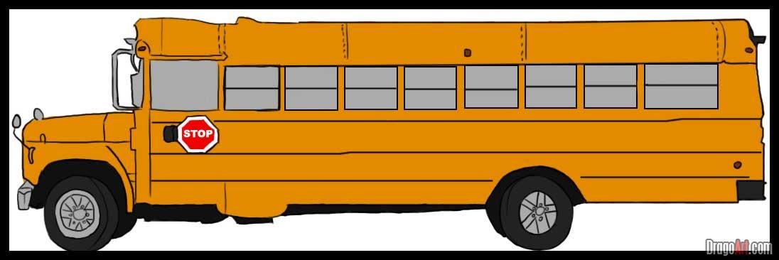 School Bus Cartoon Side View How To Draw A School Bus