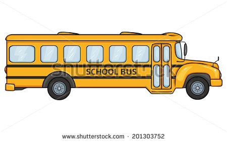 School Bus Cartoon Side View School Bus  Side View