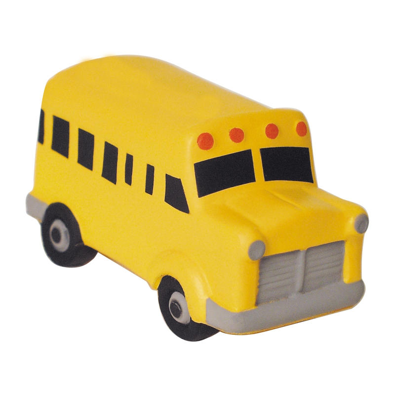 School Bus Side View Flat Front Cartoon School Bus Stress Balls1 Jpg