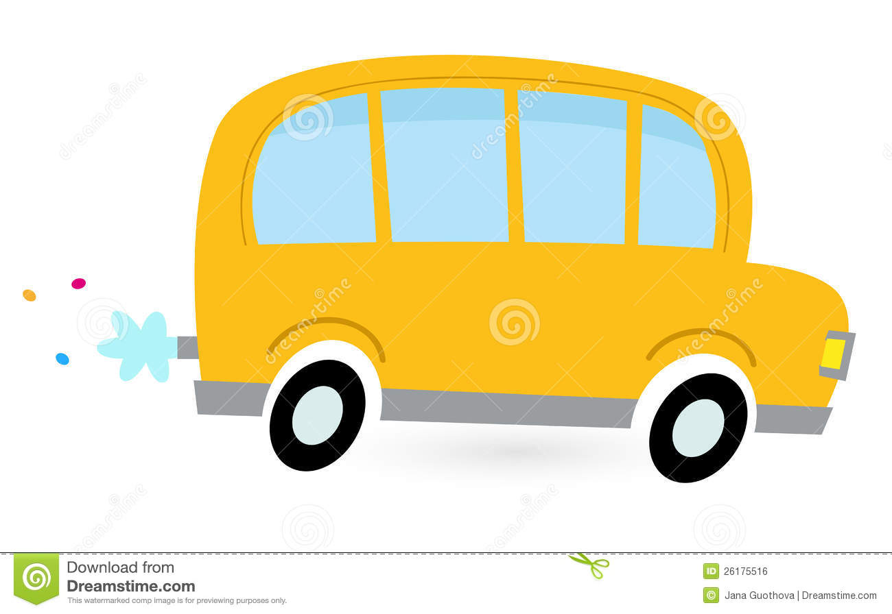 School Bus Side View Flat Front Yellow Cartoon School Bus 26175516 Jpg