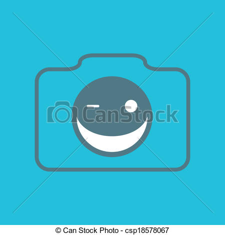 Smile For The Camera Clip Art Camera Smile   Csp18578067