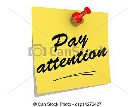 Students Paying Attention Clip Art Pay Attention White Background