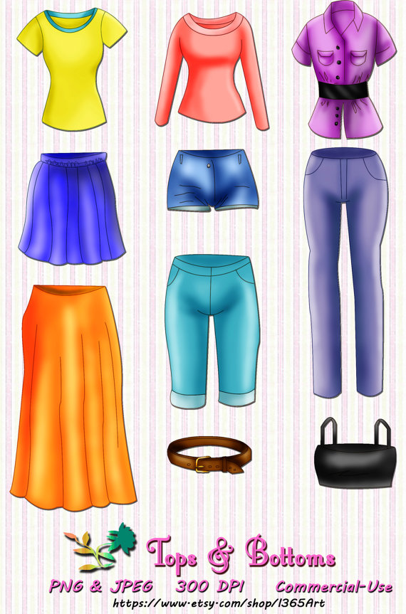 And Skirts Clipart Set Jeans Shorts Capris Women S Fashion Clothes