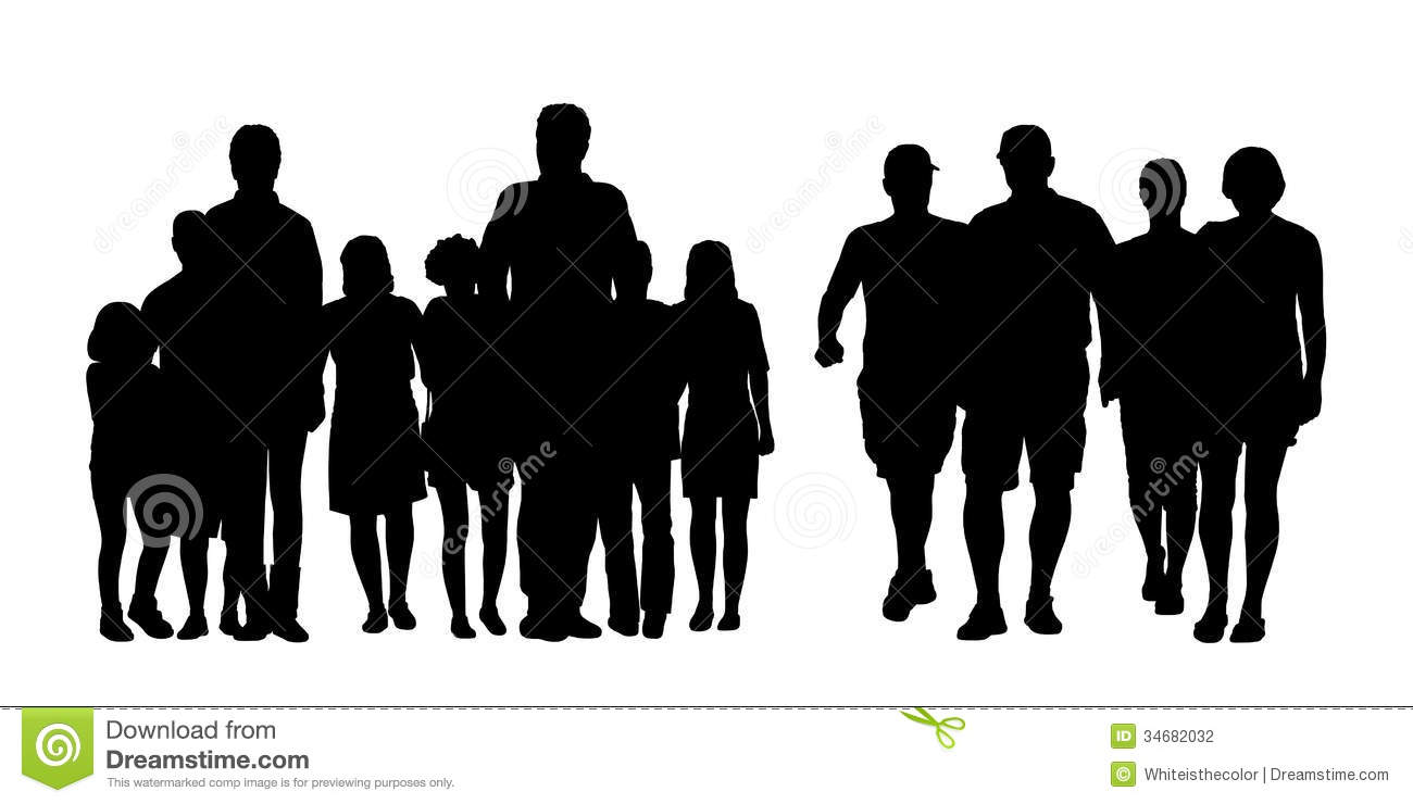 Group Of People Walking Clipart - Clipart Kid