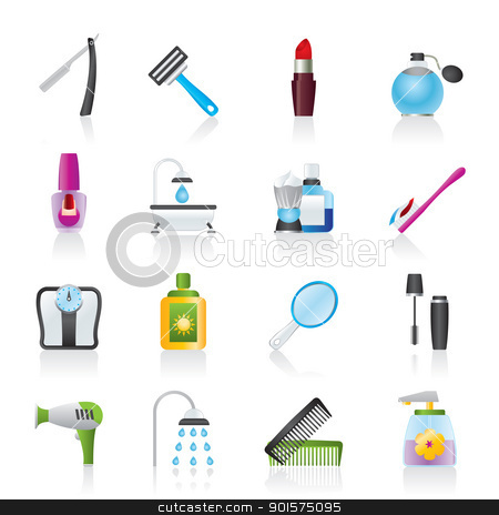 Body Care And Cosmetics Icons Stock Vector Clipart Body Care And