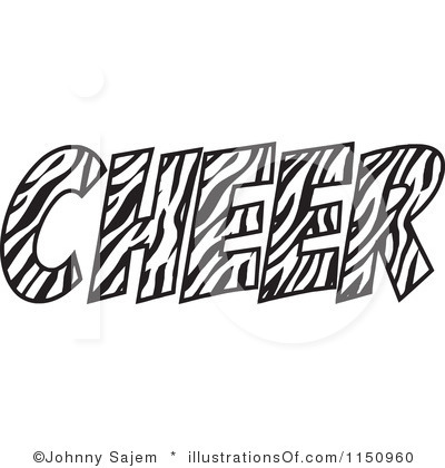 Cheer Black White Clipart - Clipart Kid
