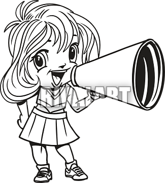 Black And White Cheer Clipart - Clipart Kid