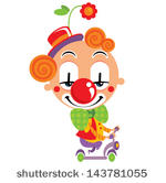 Clipartclowncolorfulcolorsconceptcrazyentertainingentertainment