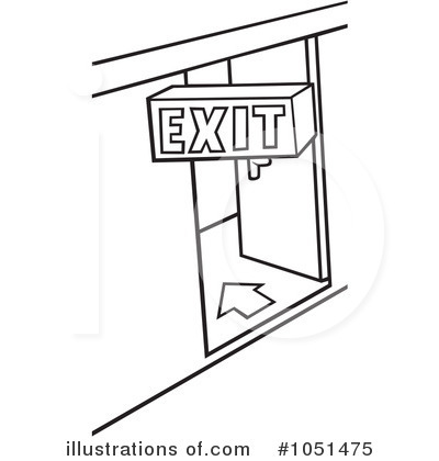 Exit Clipart  1051475   Illustration By Dero