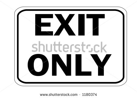 Exit Sign Clip Art Black And White Black And White Horizontal