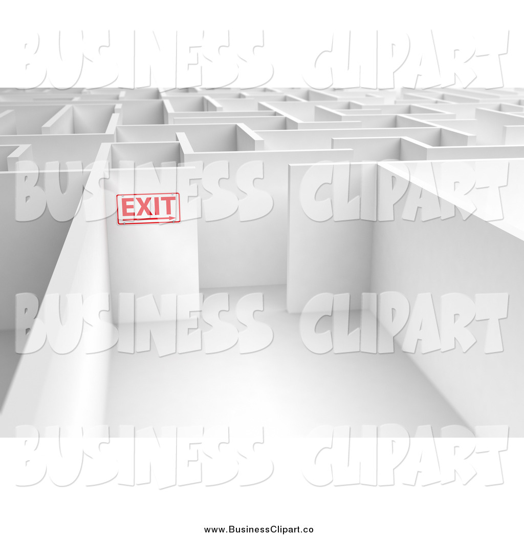 Exit Sign Clip Art Black And White Business Clipart   New Stock