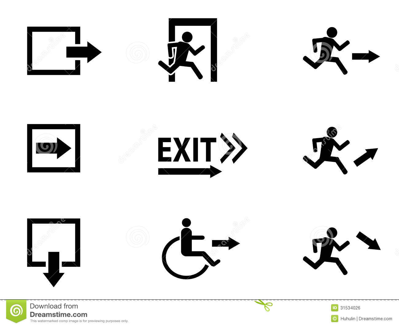 Exit Sign Clip Art Black And White The Collection Of Black Exit