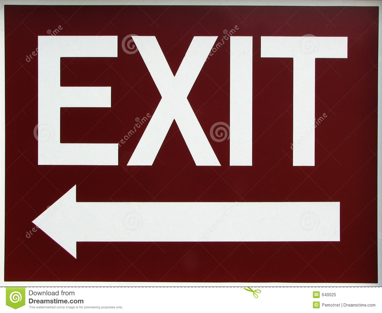 Exit Sign Clip Art Exit Sign With Left Arrow