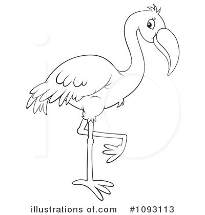 flamingo black and white clipart clipart suggest