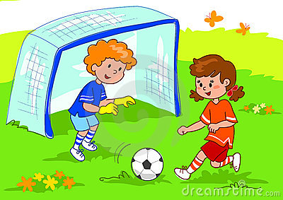 Friends Playing Soccer Royalty Free Stock Image   Image  6530446