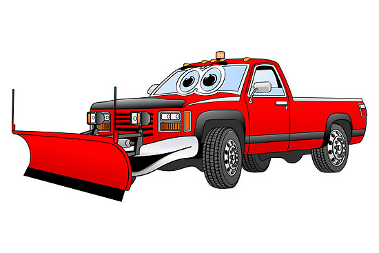 Graphxpro   Portfolio   Red R Pick Up Truck Snow Plow Cartoon
