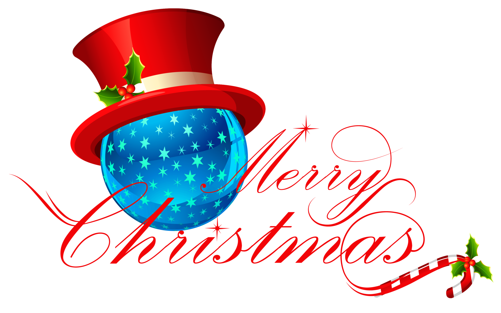 Merry Christmas Transparent Clipart - Clipart Suggest