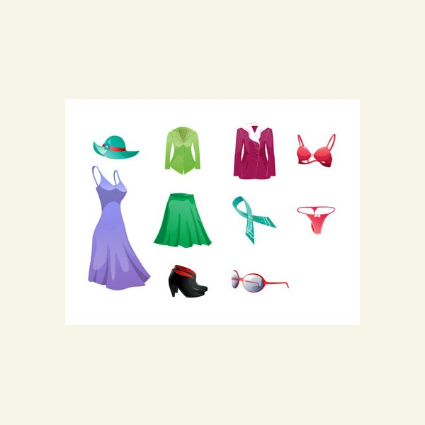 In This Pack You Will Find 10 Vector Icons Related To Women Clothes