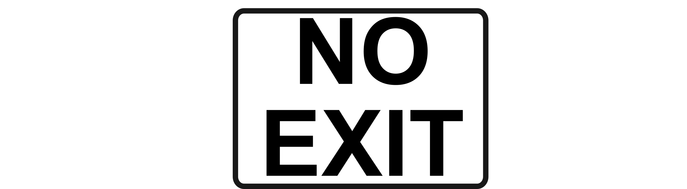 No Exit   Black On White By Rfc1394