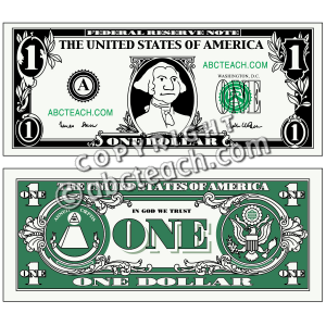 Of 1 Money Illustration Currency Dollar Cent Money Coin Clip Art