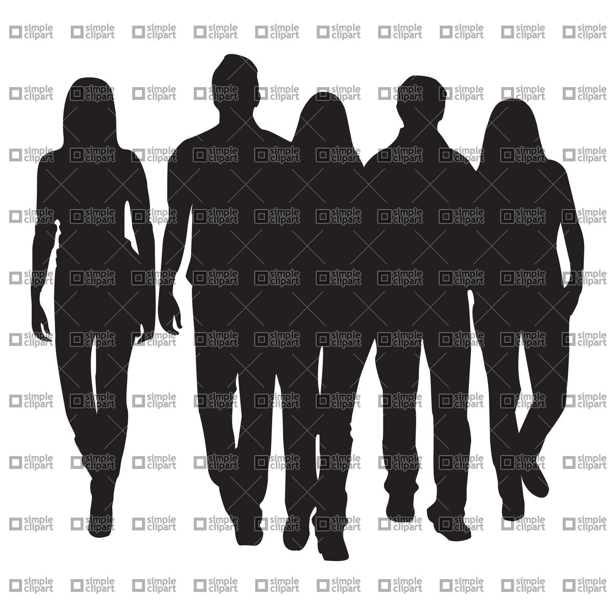 Group People Silhouette Clipart - Clipart Suggest