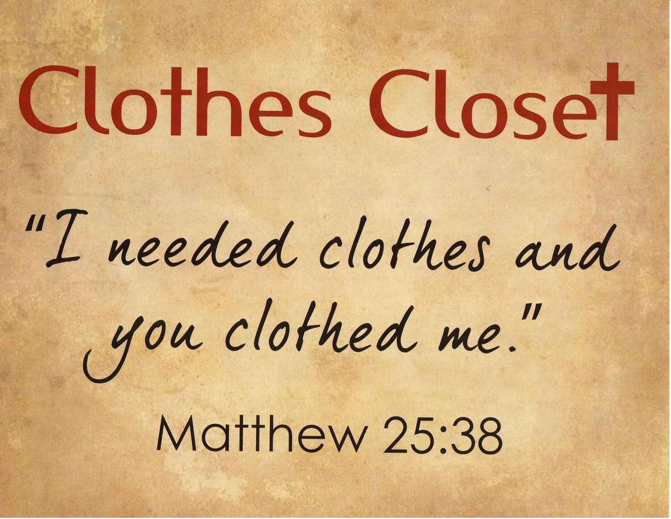 The Clothing Closet Is Filled With Donated New Or Gently Used Clothing