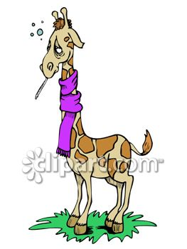 0060 0808 2616 0938 Giraffe With A Cold Clip Art Clipart Image Jpg
