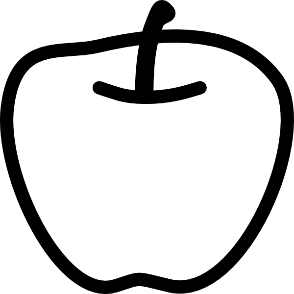 Apple Black And White Clip Art At Clker Com   Vector Clip Art Online
