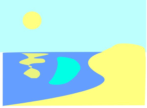Beach Sunrise Clipart - Clipart Kid