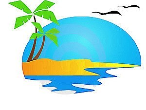 Beach Sunset Clipart   Clipart Panda   Free Clipart Images