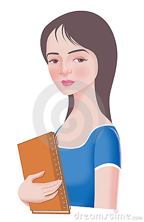 Beautiful College Girl Royalty Free Stock Photos   Image  7301088