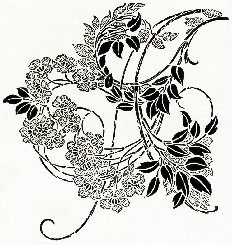 Black And White Ornamental Design   Old Design Shop Blog