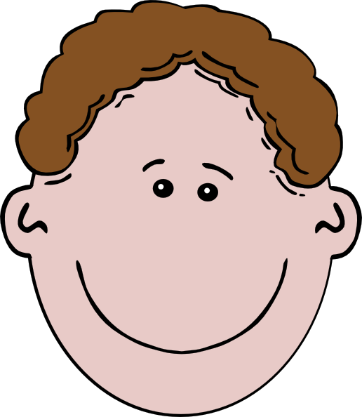 Brown Haired Boy Clip Art At Clker Com   Vector Clip Art Online