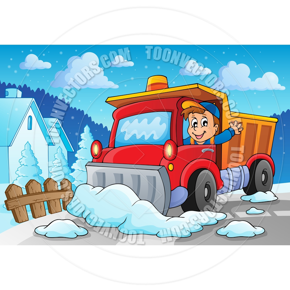 Cartoon Snow Plow Theme Image By Clairev   Toon Vectors Eps  72958