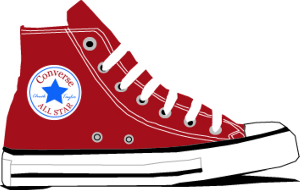 Converse Shoe Walking Clipart - Clipart Kid