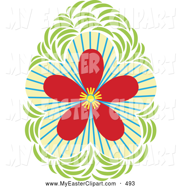 Clip Art Of A Bright Pretty Floral Design Element By Cherie Reve